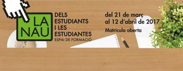 A partir del 22 de febrer podeu accedir a la matrícula dels cursos i tallers de La Nau dels Estudiants. […]